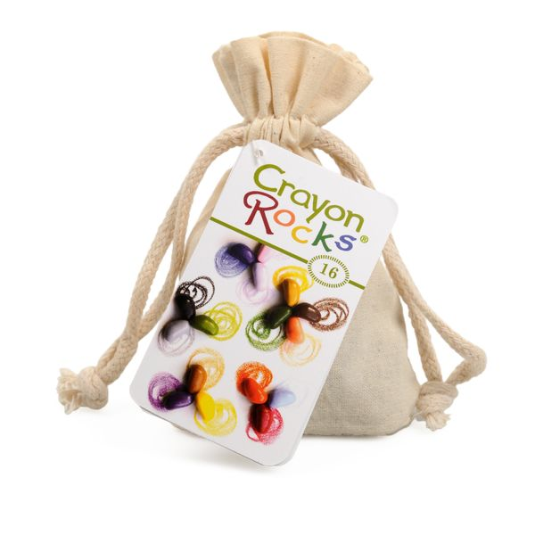 Crayon Rocks in a muslin bag - 16 pieces