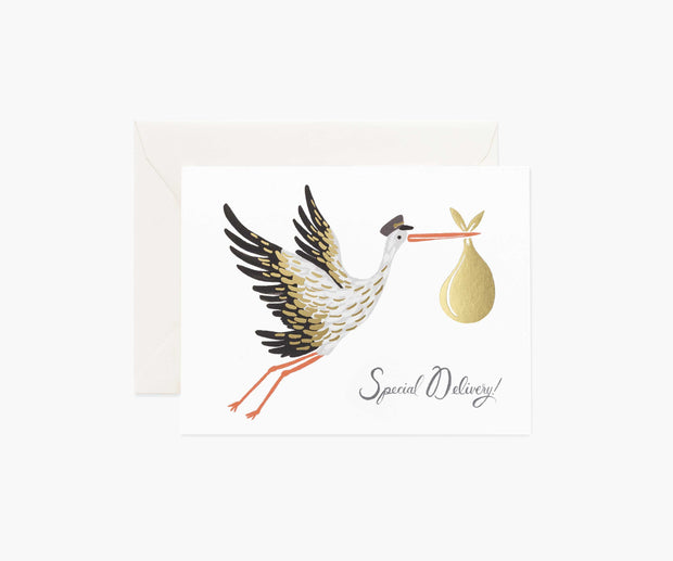 Rifle Paper Co. - Baby Stork card