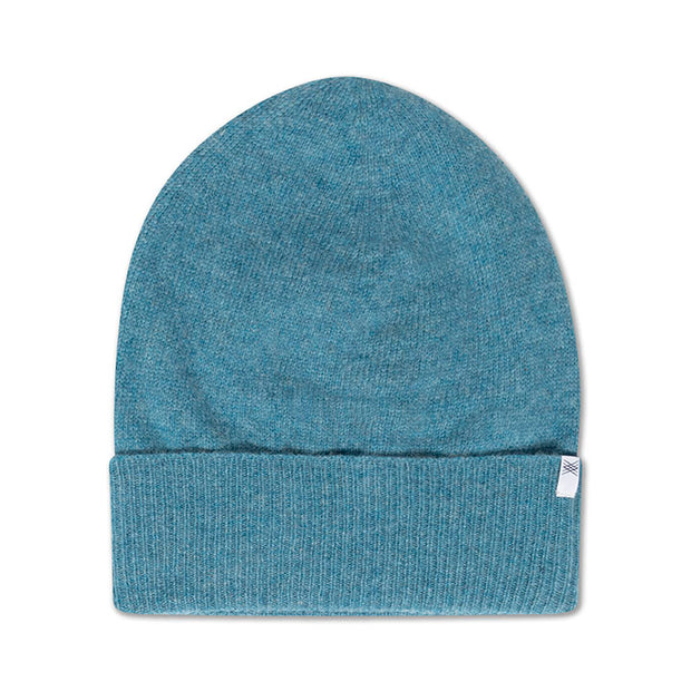 Knit hat bright sky blue