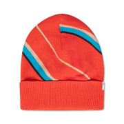 Knit hat diagonal stripe