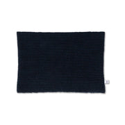Knit circle scarf navy blue