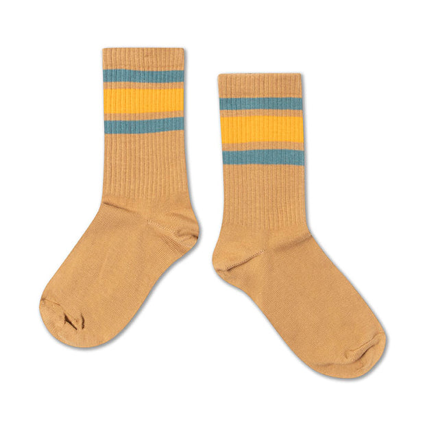 Socks warm sand multi stripe