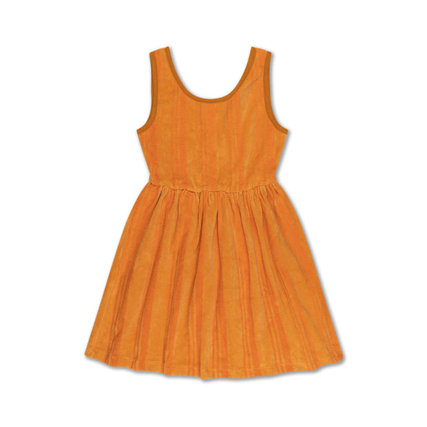 Singlet dress - yellow golden stripe