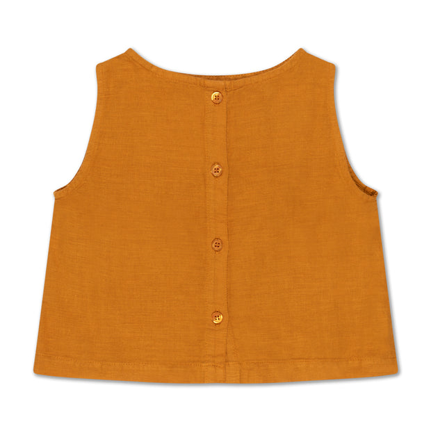 Woven top - golden yellow