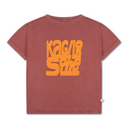Tee shirt washed brick