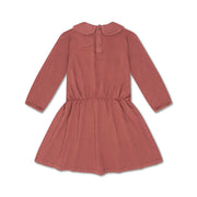 Peter pan dress washed brick