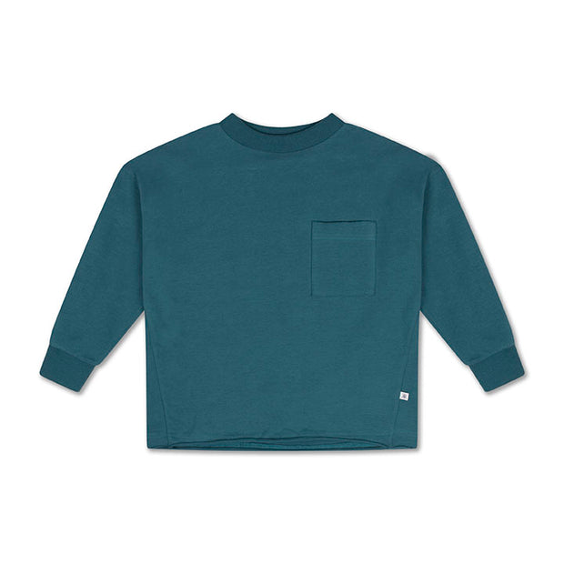 Sweat tee dark dusty blue