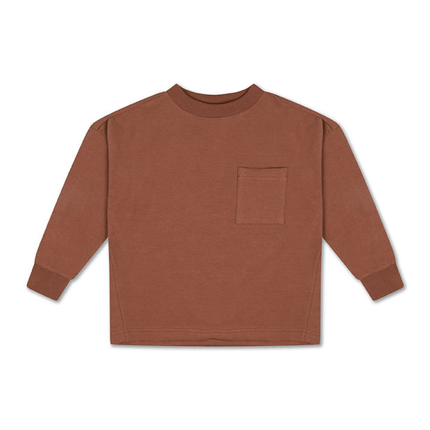 Sweat tee warm chocolate