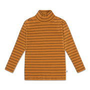 Turtle neck golden noir fine stripe