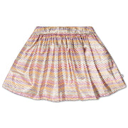 Short skirt zig zag sparkle rainbow