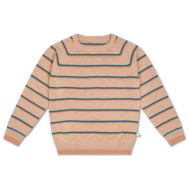 Knit raglan sweater stranger stripe