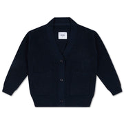 Knit grandpa cardigan navy blue