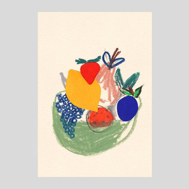 Wrap art card - Fruit basket
