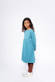 Midi dress dusty storm blue