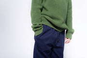 Knit raglan sweater hunter green