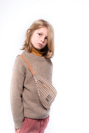 Knit boxy sweater multi marble