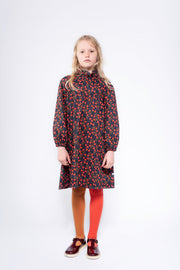 Tights firy red autumn color block