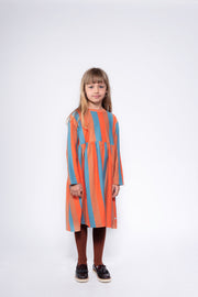 Midi dress multi block stripe