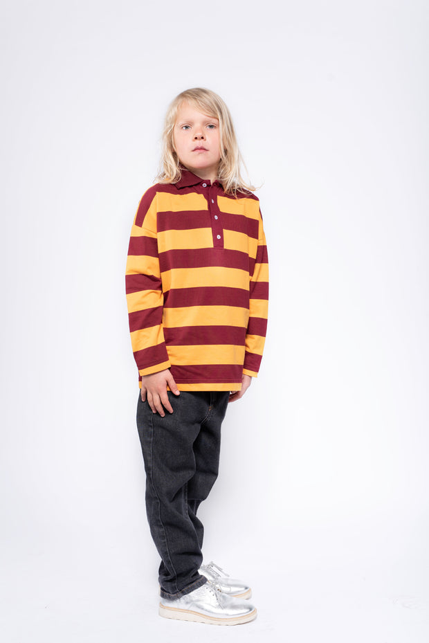 Rugby sweater sunny brick stripe