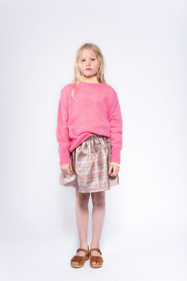 Knit boxy sweater glory pink