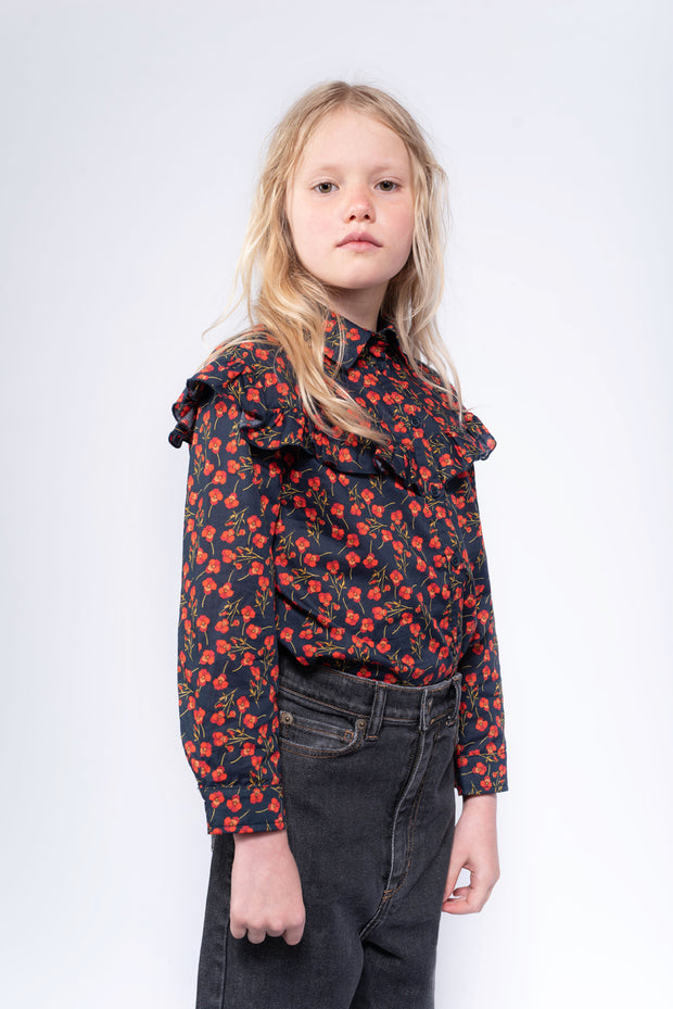 Moony blouse liberty marine poppy