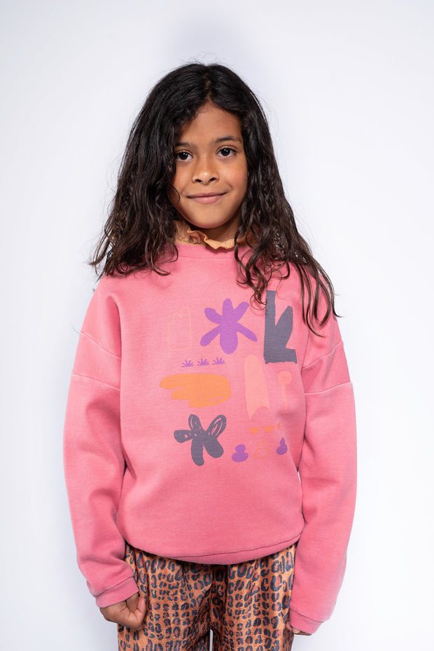 Crewneck sweater hot flamingo