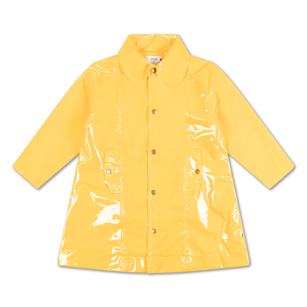 Raincoat warm custard yellow