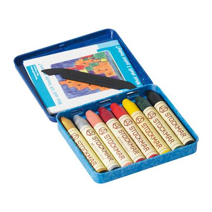 Stockmar 8 beeswax stick crayons additional colours