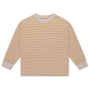 Sweat tee butterscotch stripe