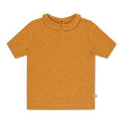 Tee shirt with collar sun gold