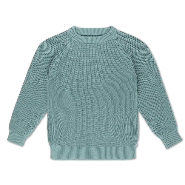 Knit sweater greyish sea