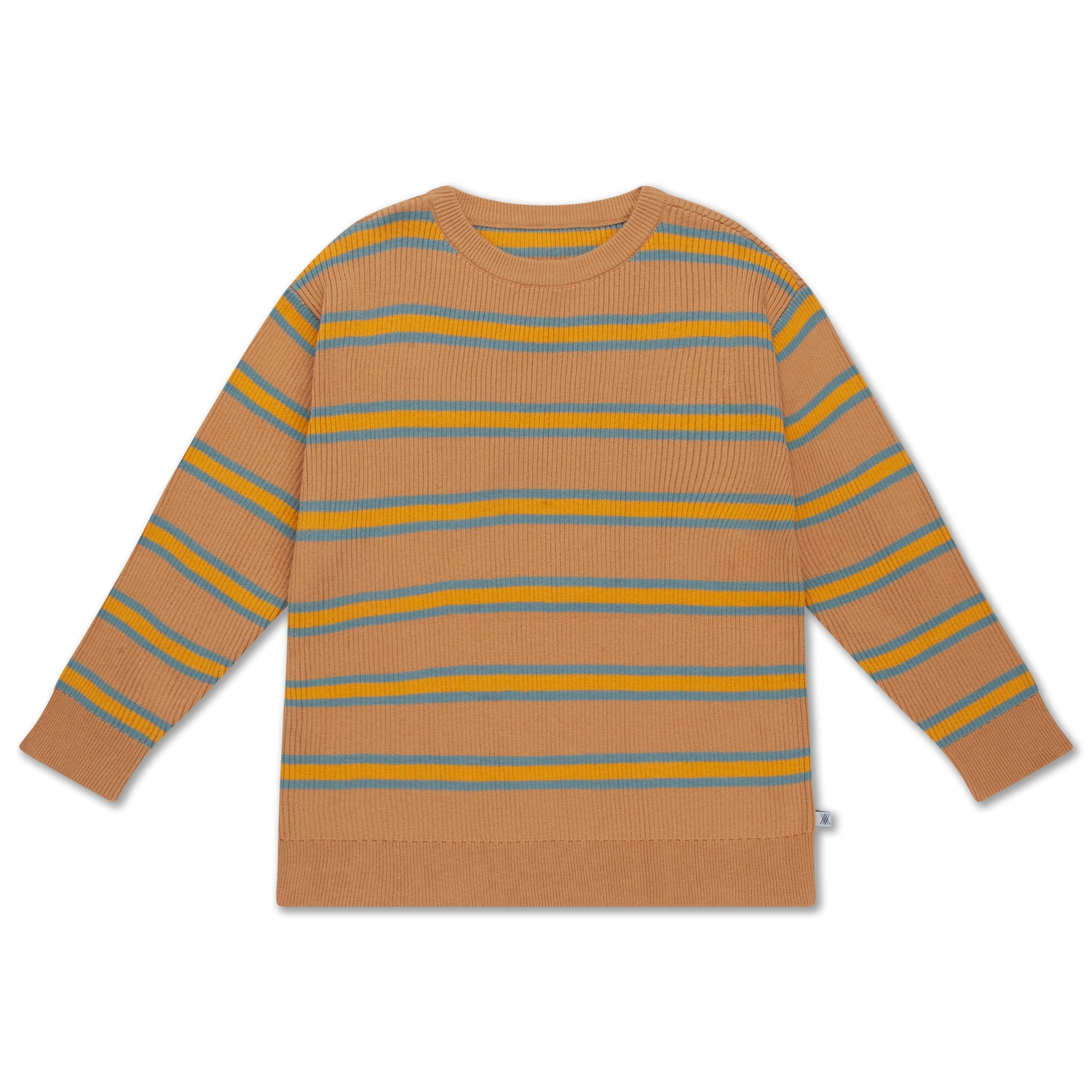 Knit sweater sandy blue stripe