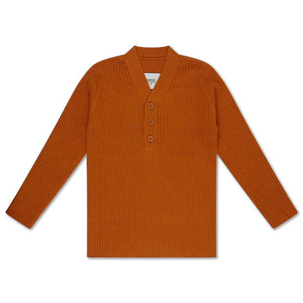 Knit sweater warmed rust