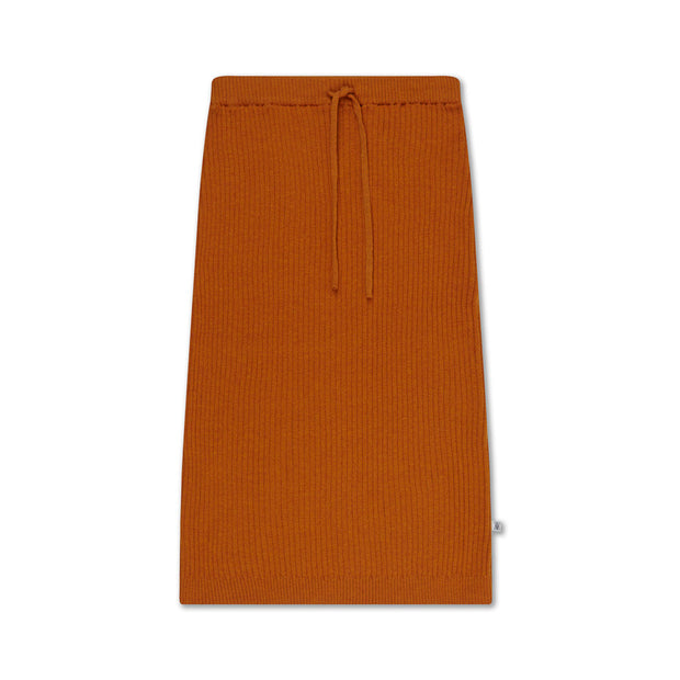 Knit skirt warmed rust