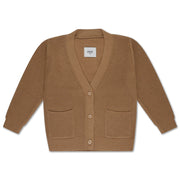 Knit cardigan v neck beige sand
