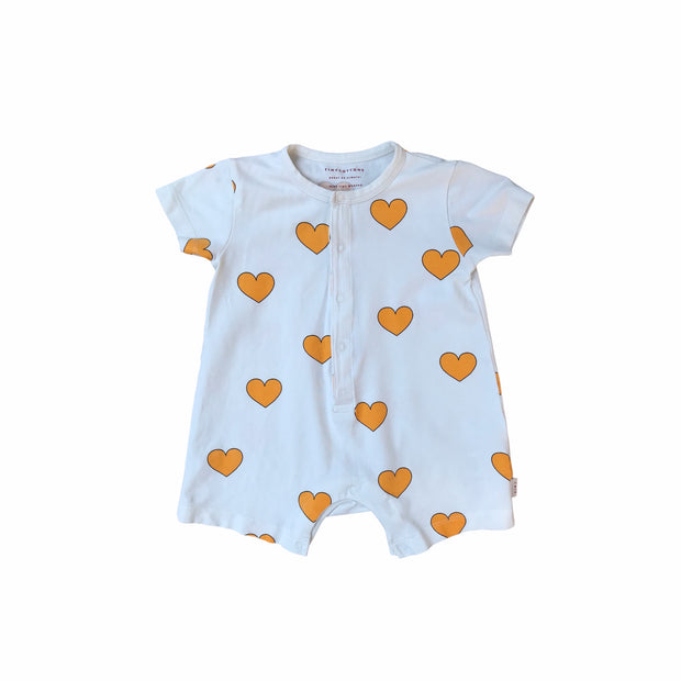 Tiny Cottons babysuit hearts 9 month