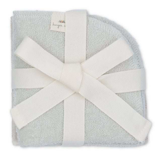Konges Sløjd 3-pack terry wash cloths - silver lining