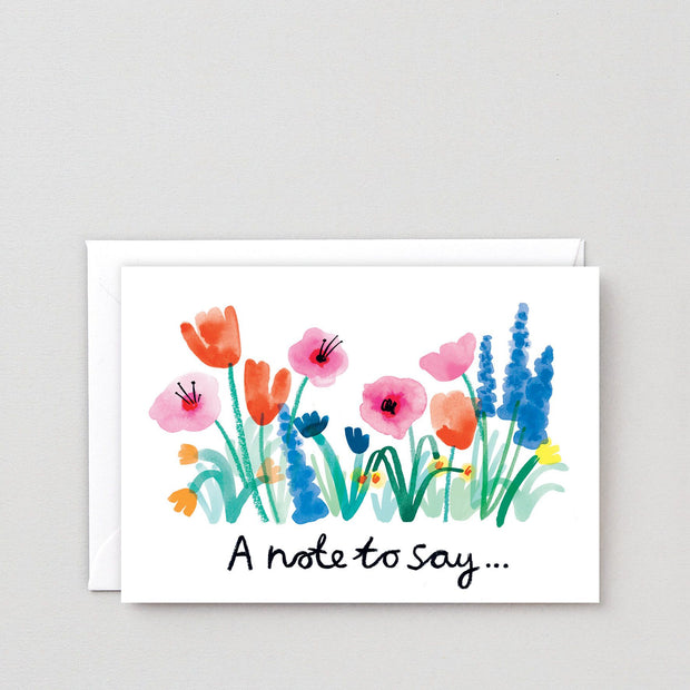Wrap art card - A note to say...