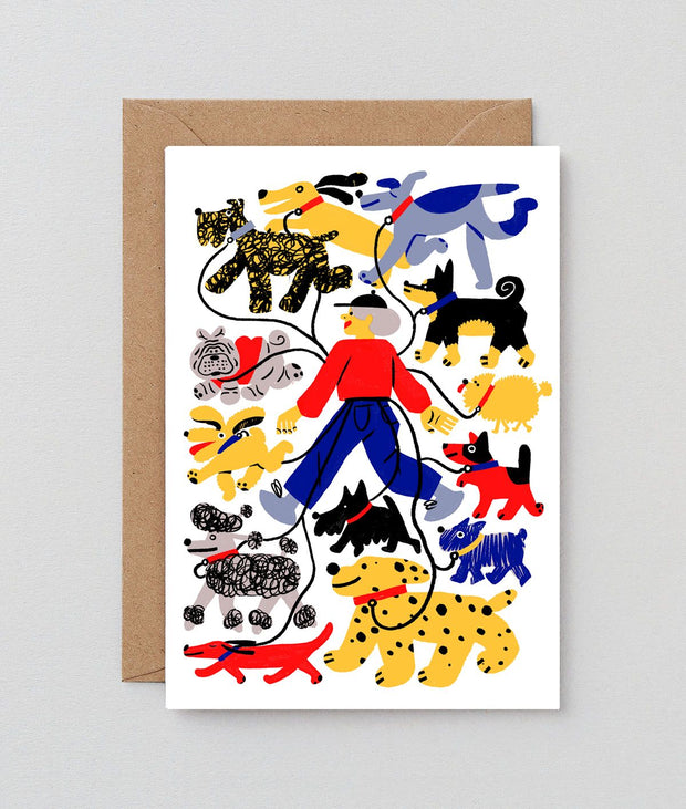 Wrap art card - Dogs