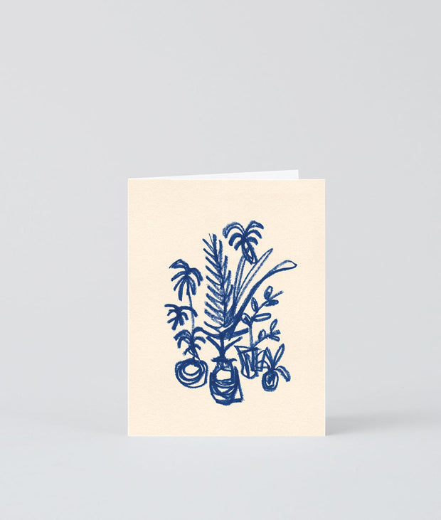 Wrap art mini card - Dark blue cluster