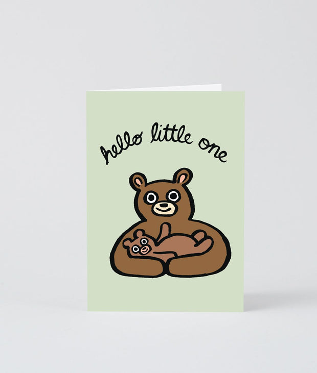 Wrap art mini card - Hello little one