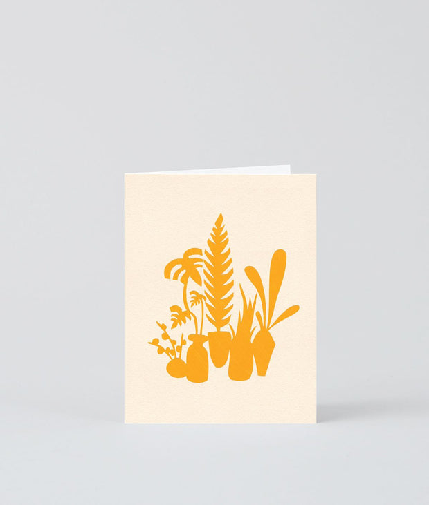Wrap art mini card - Yellow cluster