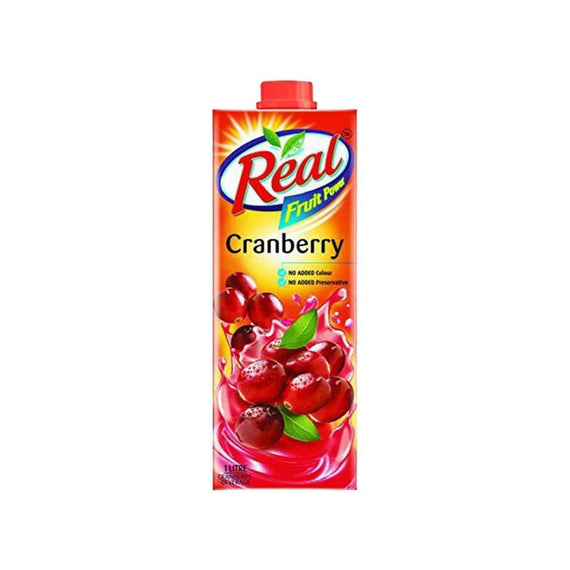 Real Juice Fruit Power Cranberry 1L - Buythevalue.in