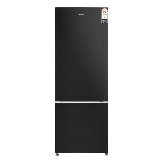 Haier 345 L 3 Star Frost Free Double Door Refrigerator(HRB-3654PKG, Black, Bottom Freezer)