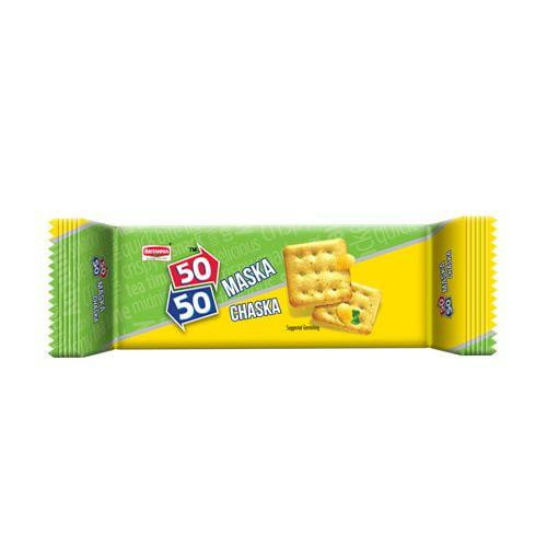 Britannia 50-50 Maska Chaska Biscuits 50 gm Pouch - Buythevalue.in