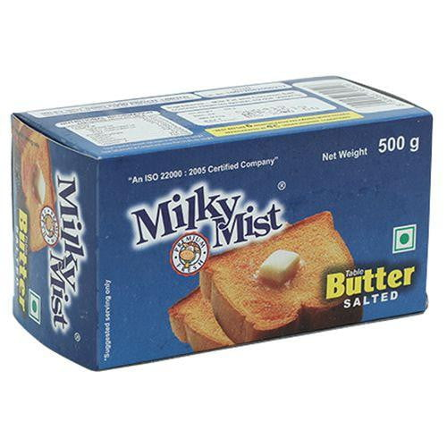 Milky Mist Table Butter Salted Carton 500 gm - Buythevalue.in