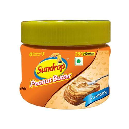 Sundrop Peanut Butter Creamy Bottle 200 gm - Buythevalue.in