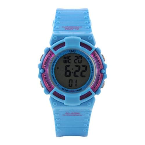 Q&Q Digital Black Dial Children's Watch - M138J005Y get best offers deals free and coupons online at buythevalue.in
