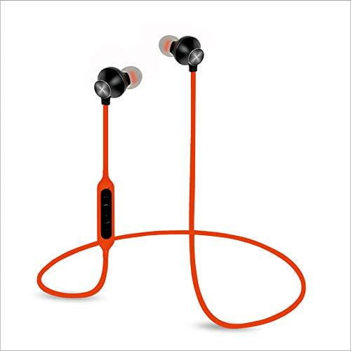 Hamaan B-11 Universal in-Ear Extra Bass Voice Command Earphones with Mic-Fiery Orange - Buythevalue.in
