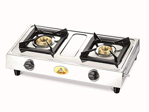 Bajaj Popular Eco Stainless Steel 2 Burner Gas Stove Silver get best offers deals free and coupons online at buythevalue.in